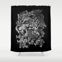 jaguar Shower Curtains featuring Jaguar Warrior by Jorge Garza