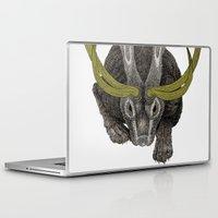 jackalope Laptop & iPad Skins featuring Jackalope by Justin McElroy