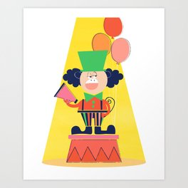 Clown - Circus Series Art Print