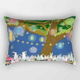 Dancing under Lights of Night Rectangular Pillow