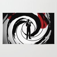 bond Area & Throw Rugs featuring JAMES BOND by alexa