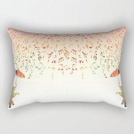 Dancing with Musical Rain Rectangular Pillow
