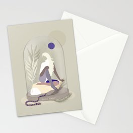 Moon Child - Girl in Wild Nature Stationery Cards