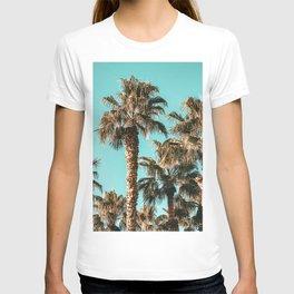 {1 of 2} Classy Palm Leaf Sky // Summer Teal Palmtree Art Print T-shirt