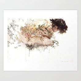 Ivory Fashion Art Print