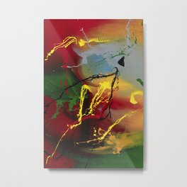 Planet Flow - abstract painting by Rasko Metal Print
