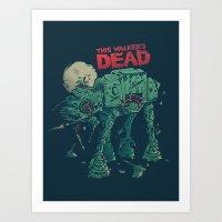dead Art Prints featuring Walker's Dead by Victor Vercesi