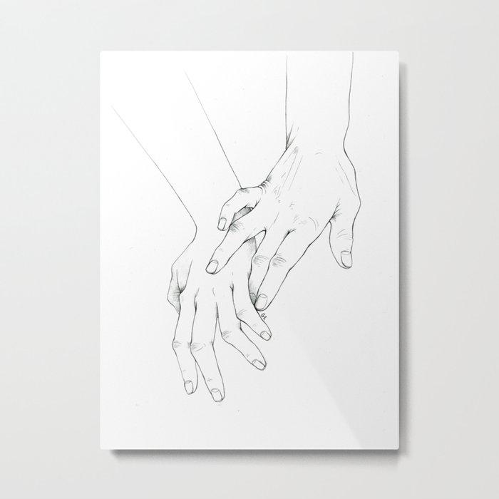 Untitled Hands No. 11 Metal Print