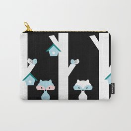 Foxes and birds at night Carry-All Pouch