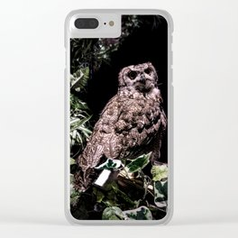 Handsome Hooter Clear iPhone Case