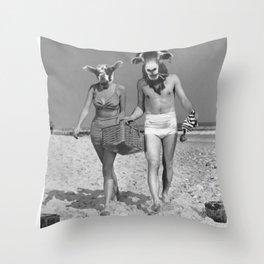 Sheeple ppl Throw Pillow