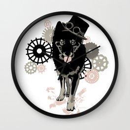 Steam Punk Wolf Wall Clock