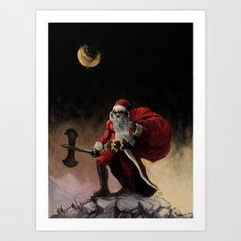Santa Frazetta Art Print