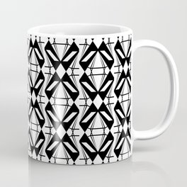 Abstract [BLACK-WHITE] Emeralds pattern Coffee Mug