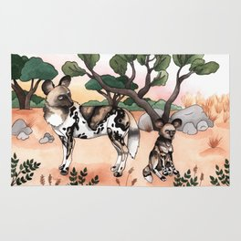 African Wild Dogs Rug