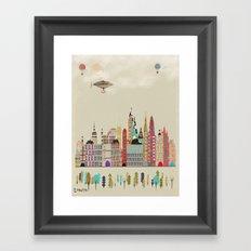 visit london england Framed Art Print