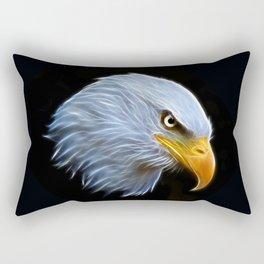 Fractal Bald Eagle Rectangular Pillow