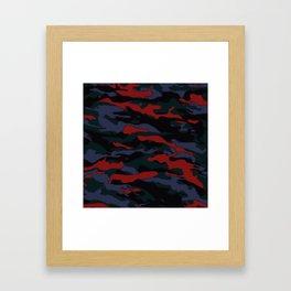Dark Woodland Camo Framed Art Print