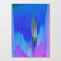 waterfall Canvas Prints featuring Waterfall by DuckyB