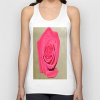 rose gold Tank Tops featuring Gold 'n Rose by Twilight Wolf