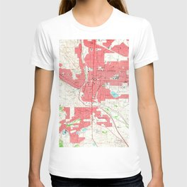 Vintage Map of Colorado Springs CO (1961) T-shirt