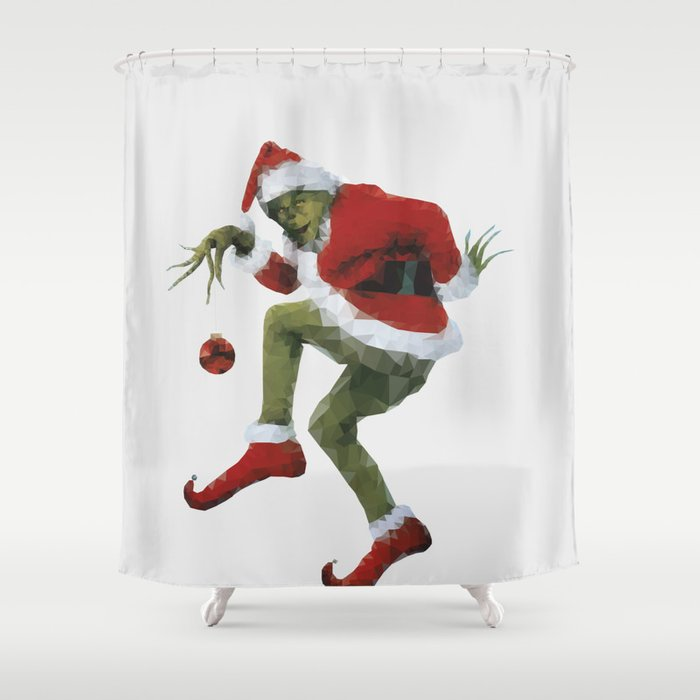 Christmas Grinch.Christmas Grinch Shower Curtain By Idledoodles