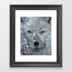 The Amber Eyed Wolf Framed Art Print
