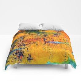 Imaginaere Landschaft II abstrakte Malerei Comforters