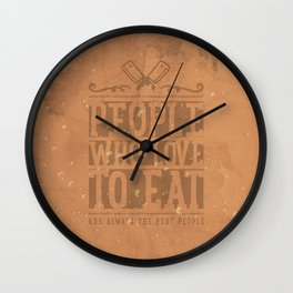 People Who Love to Eat Wall Clock