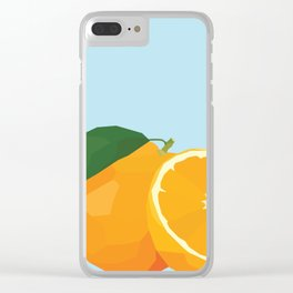 Geo Orange Clear iPhone Case