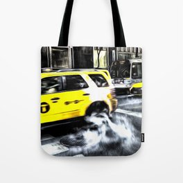 New York Taxis Art Tote Bag