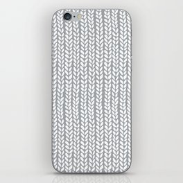 Knit Wave Grey iPhone Skin