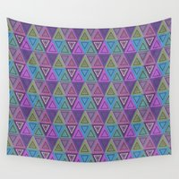 triangles Wall Tapestries featuring Triangles by gretzky
