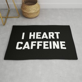 I Heart Caffeine Funny Quote Rug