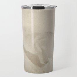 Beige Canvas Texture. Grunge Horizontal Background. Travel Mug