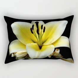Wonderful Flower yellow and black Rectangular Pillow