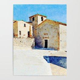 Borrello: church and building Poster