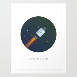 Famous Spaceships - Apollo CSM Art Print