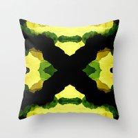 reggae Throw Pillows featuring Reggae Fields by Stoian Hitrov - Sto