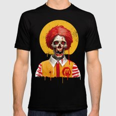 Saint Ronald Black SMALL Mens Fitted Tee