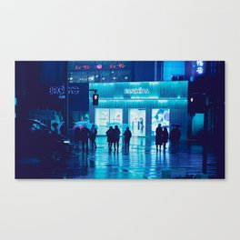 Tokyo Nights / Rain / Liam Wong Canvas Print