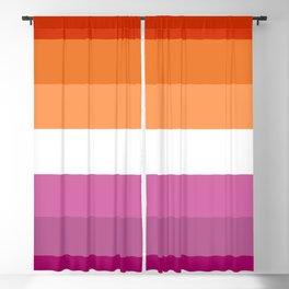 Butch Lesbian Flag Blackout Curtain