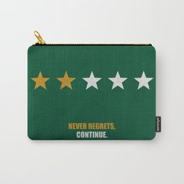 Lab No.4 -Never Regrets, Continue Motivational Quotes poster Carry-All Pouch