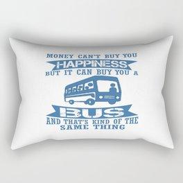 Happiness Split Bus Rectangular Pillow