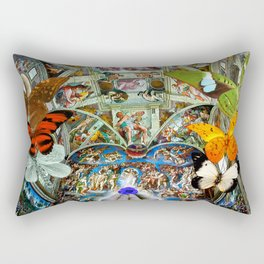Butterfly in Cappella Sistina SistineChapel Rectangular Pillow