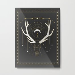 Moon Deer Metal Print