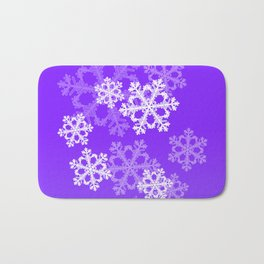 Cute purple snowflakes Bath Mat
