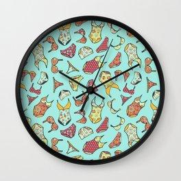 UNDERWEAR LOVE: Little Luxuries in Mint Wall Clock