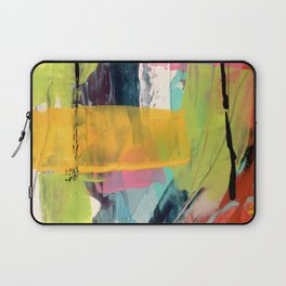 Hopeful[2] - a bright mixed media abstract piece Laptop Sleeve