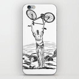 Bike Contemplation - light background iPhone Skin